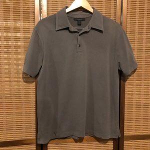 Express grey shirt sleeve polo